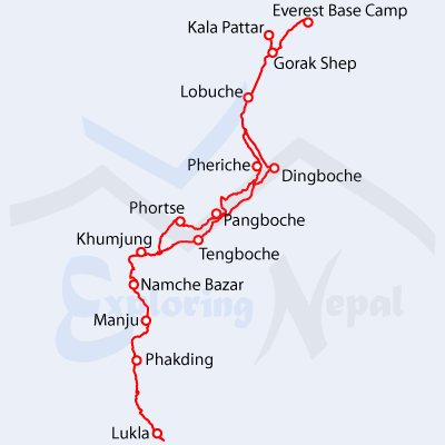 Everest Base Camp mapa